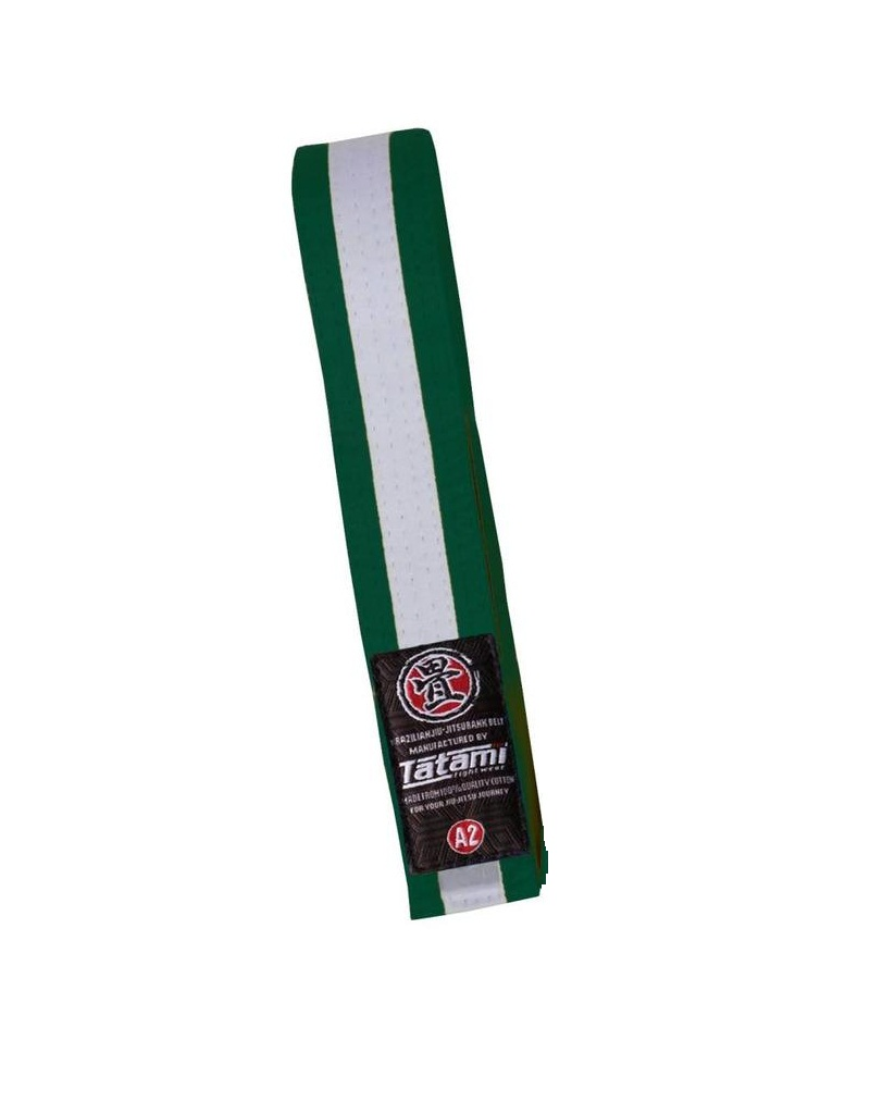 Пояс детский Tatami IBJJF Kids Rank Belts Green/White