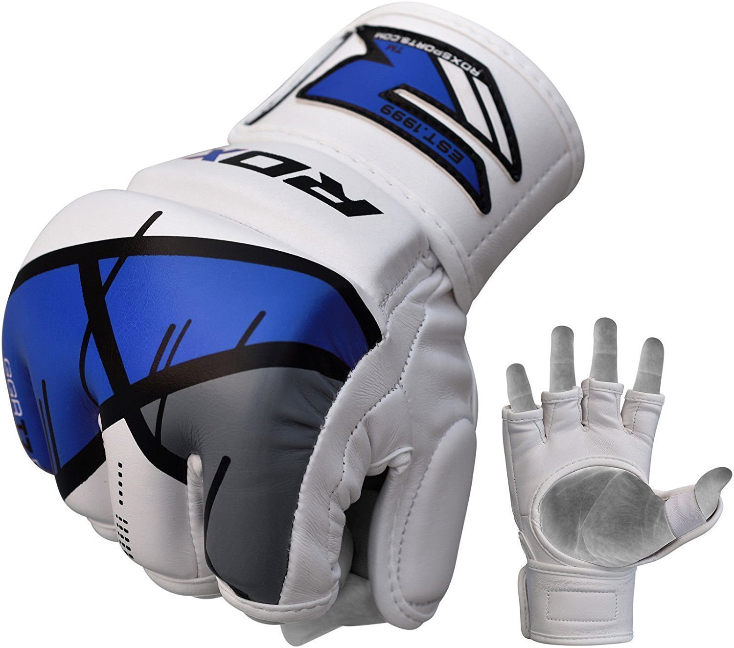 Перчатки для ММА RDX Grappling Gloves Rex T7 Blue