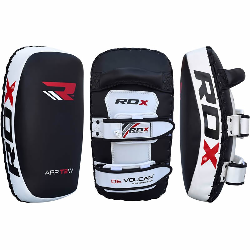 Пэды RDX Thai KickBoxing Leather Strike Pads - Black 1 шт фото 2