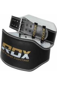 Пояс RDX WBS-6RB Belt 6 Leather - Black/Gold