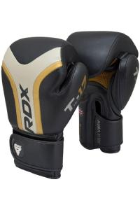 Перчатки для бокса RDX Boxing Gloves AURA T-17 Golden Black